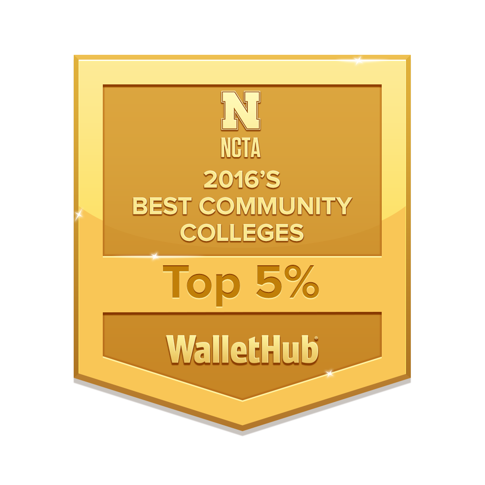 NCTA was in the Top 2%, overall, ranking 9th place out of 821 two-year institutions in the nation.