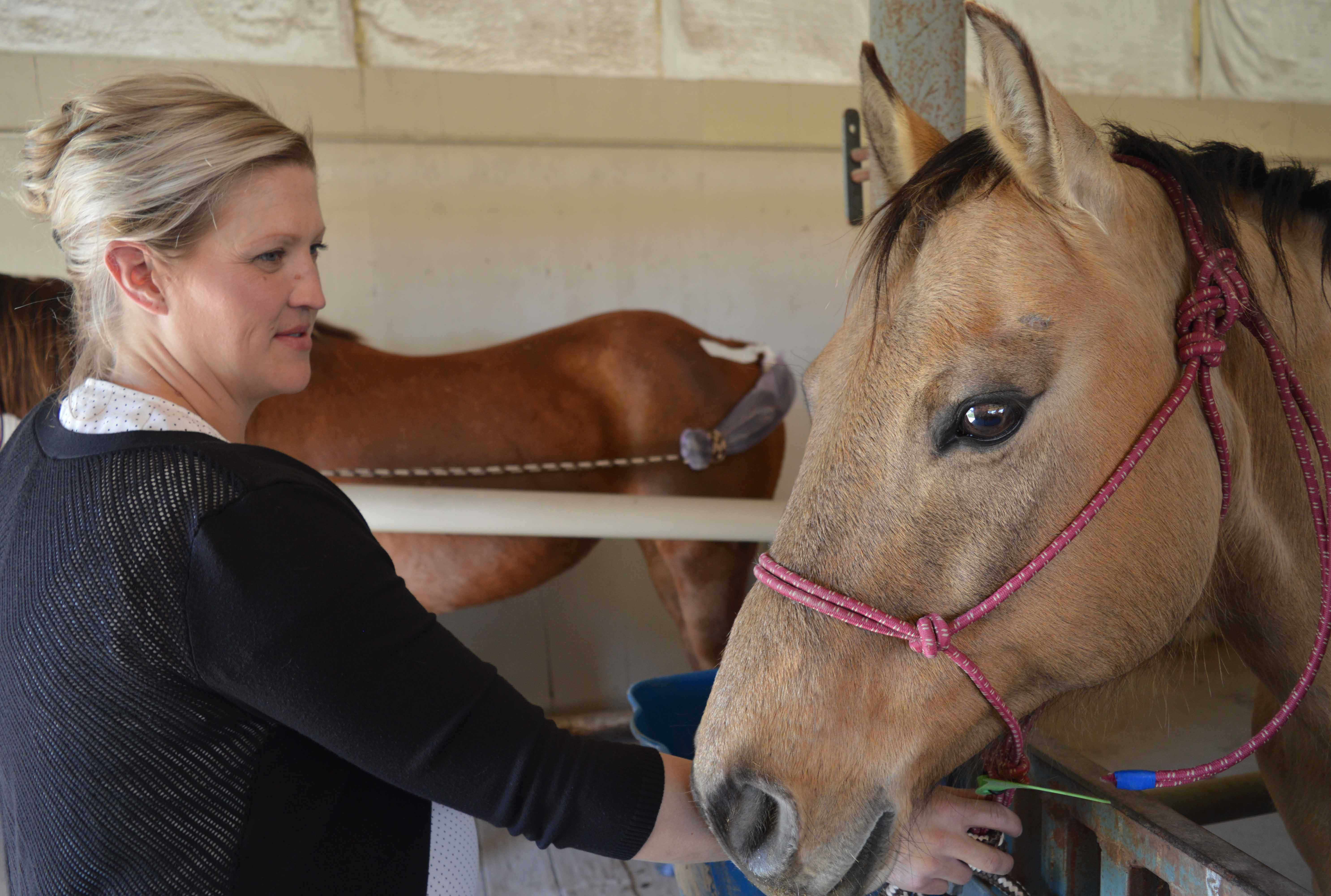 Animal Science professor Joanna Hergenreder teaches equine courses and coaches the NCTA Ranch Horse Team. (Crawford/NCTA News photo)