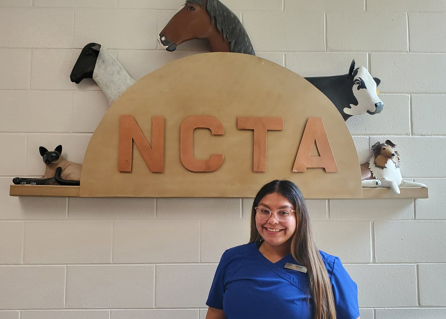 Aileen Reynosa-Esquivel of Lexington, Nebraska is a sophomore student studying veterinary technology at NCTA. (Crawford / NCTA News photo)