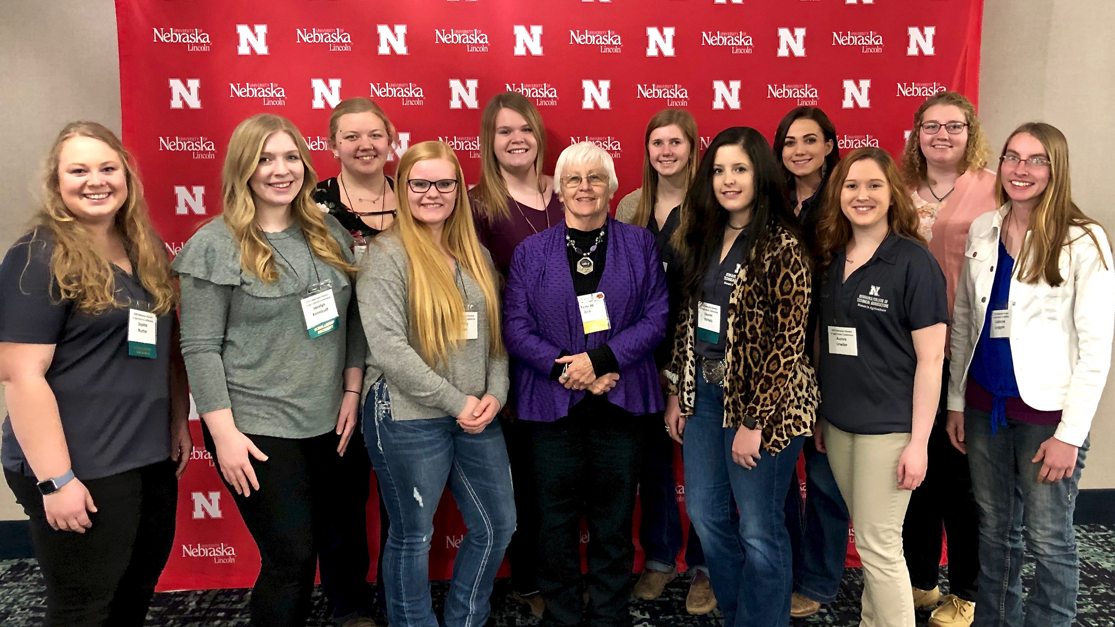 Women in Ag from the Nebraska College of Technical Agriculture will host a Meet & Greet and panel discussion on Tuesday. Jo Bek, center, is one of the panelists. Sophie Nutter, far left, is the club president and invites any women from the area to attend. (NCTA file photo)