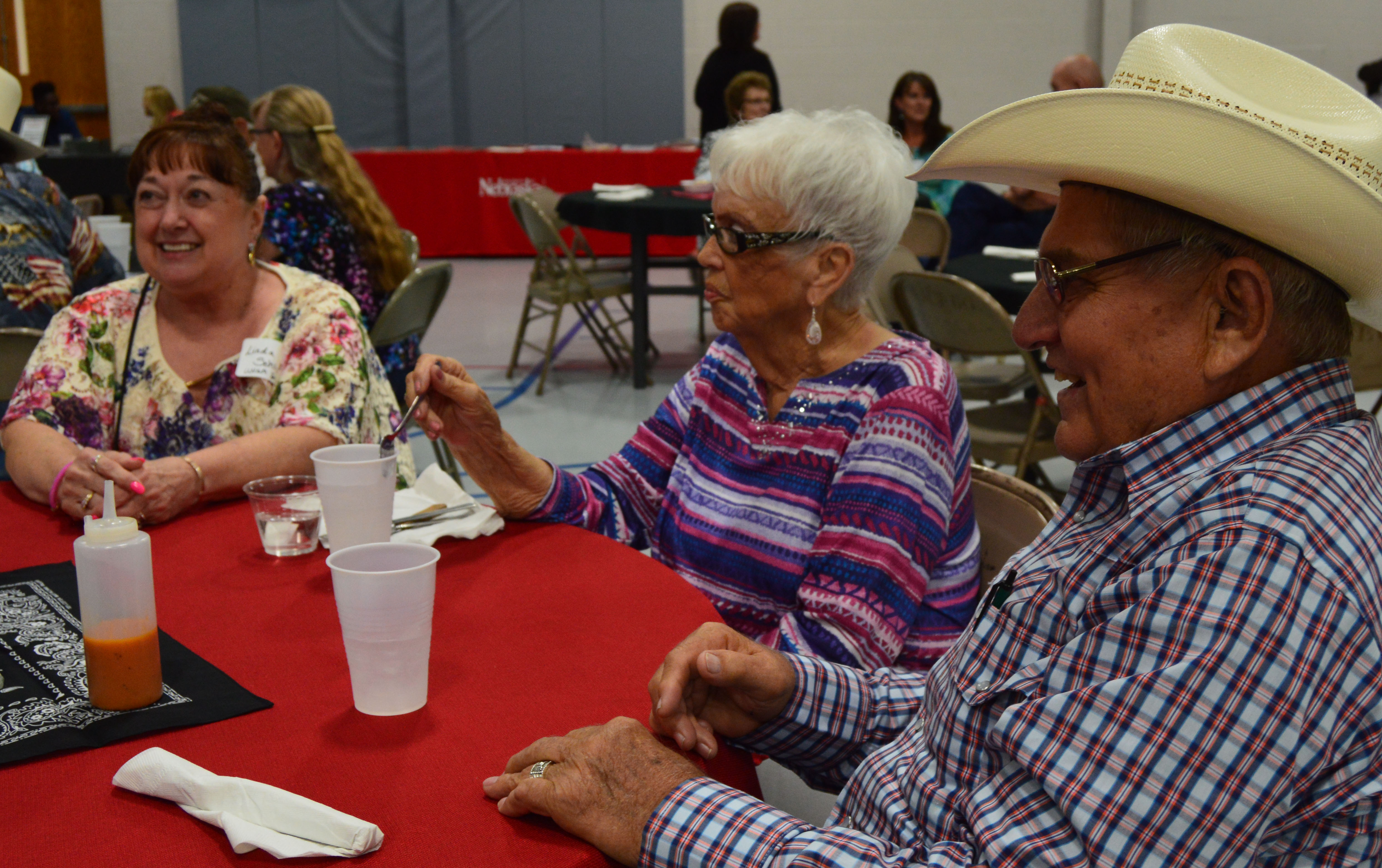 Aggie alumni and former staff reminisced Saturday at the 2018 banquet in Curtis. (NCTA News photo)