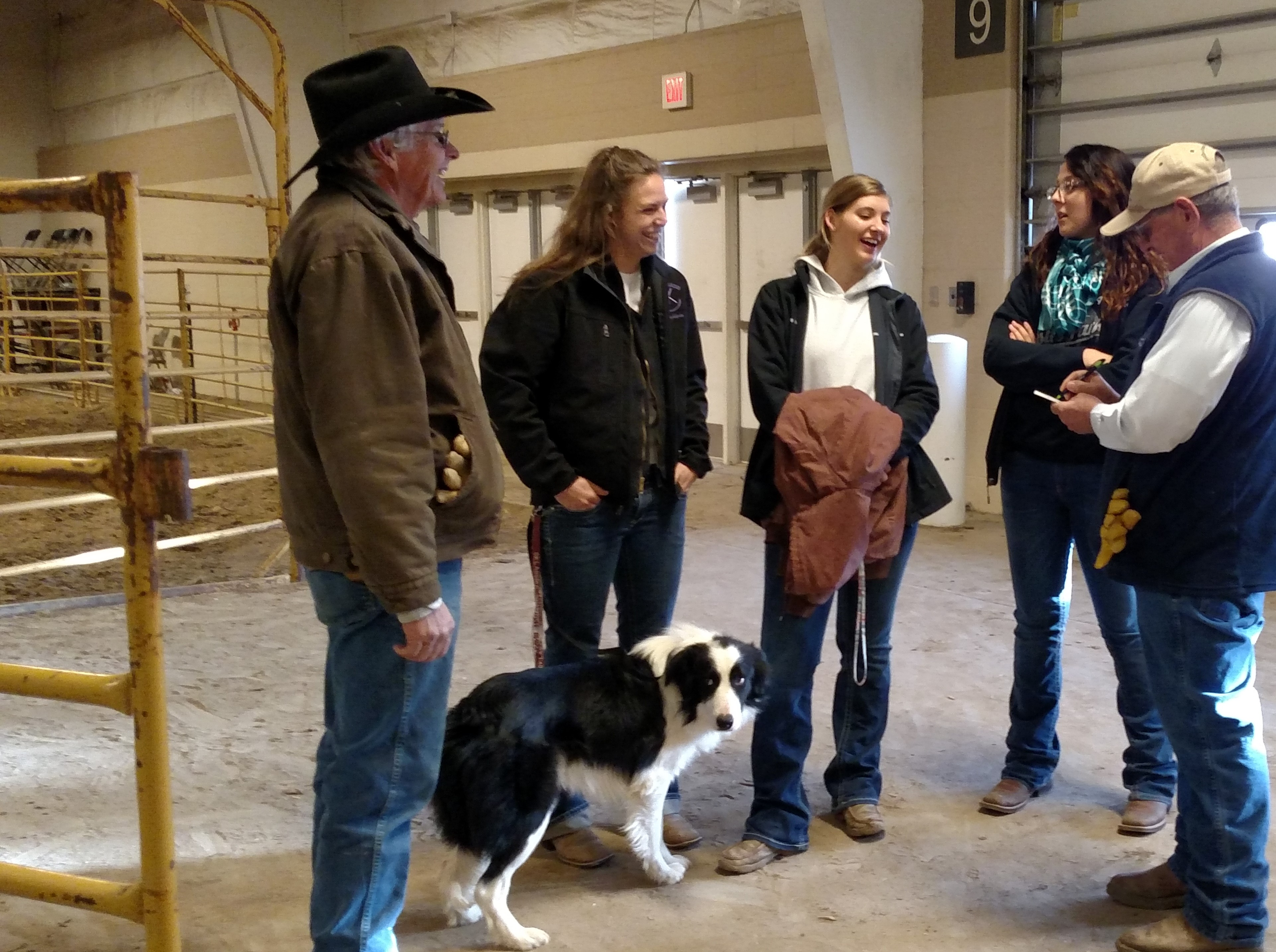 Stock dog handlers with the NCTA Stock Dog Team and Outback Stock Dog Club visit while at the Cattlemen's Classic. (Bowmaster-Cole photo)