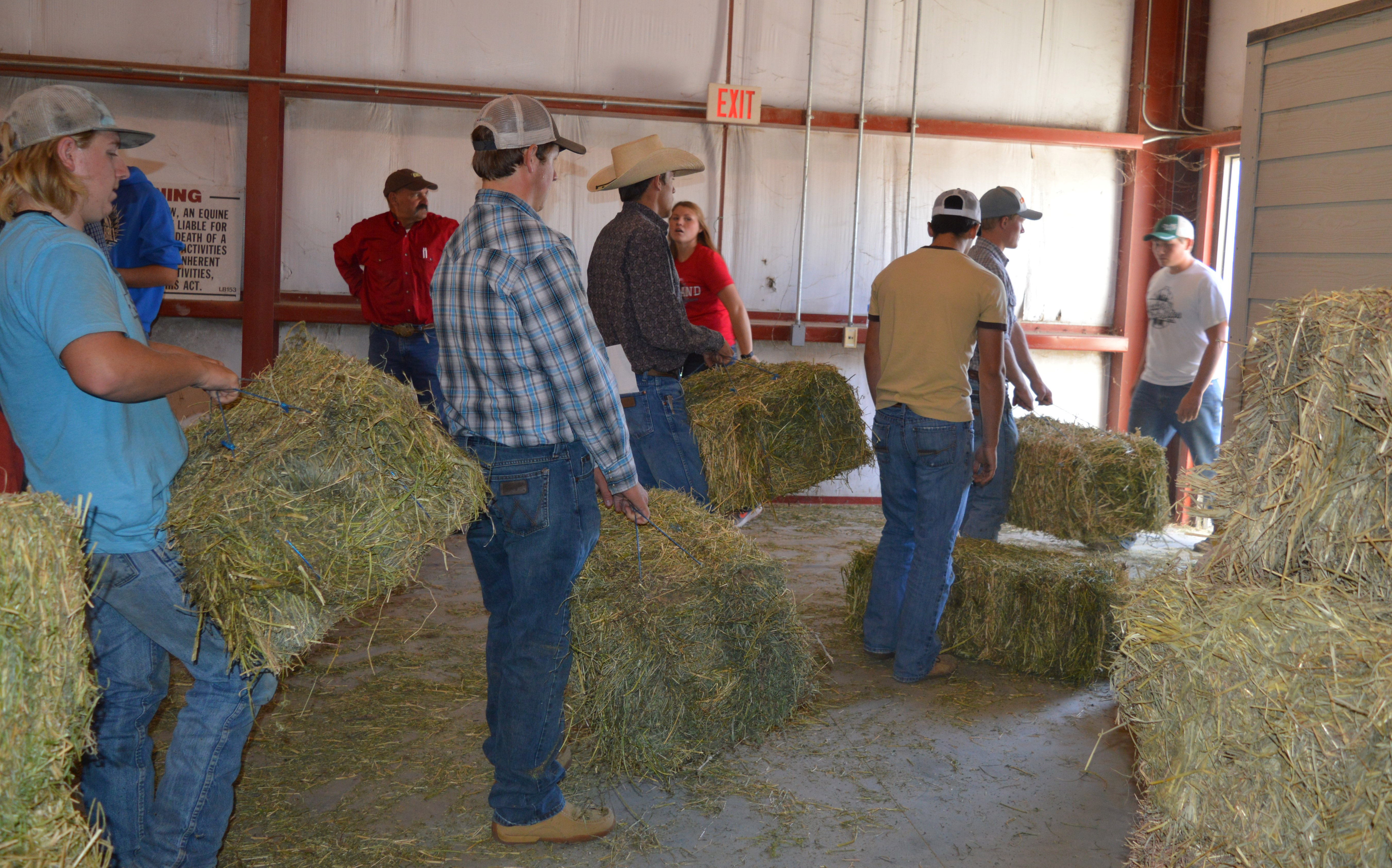 In September, community residents and NCTA friends loaded Hurricane relief for Texas which included bales of hay collected at the NCTA Livestock Teaching Center. (Catherine Hauptman/NCTA photo)