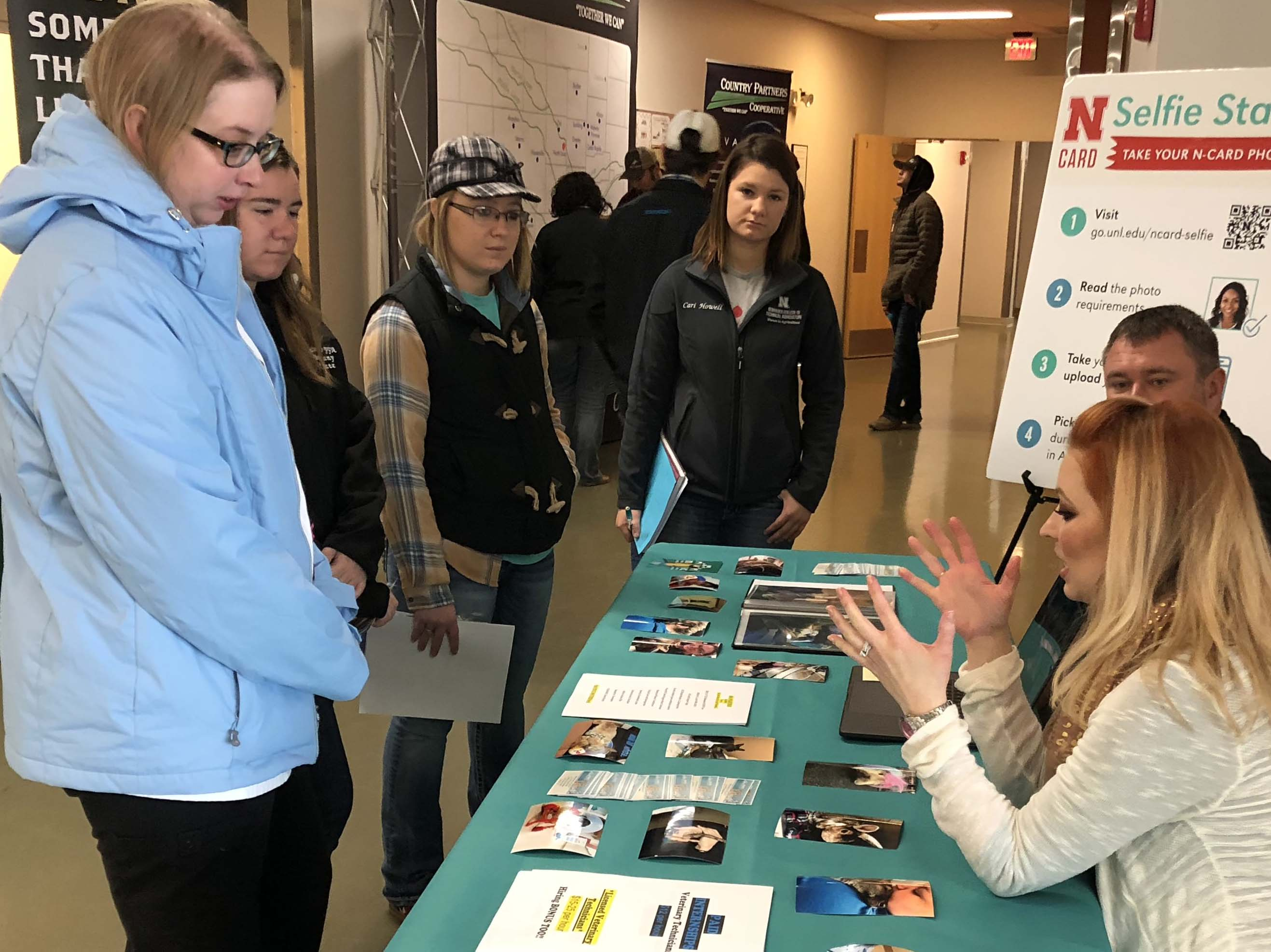 NCTA Aggie students can visit with employers at the NCTA Career Fair. (Crouse/NCTA News file photo)