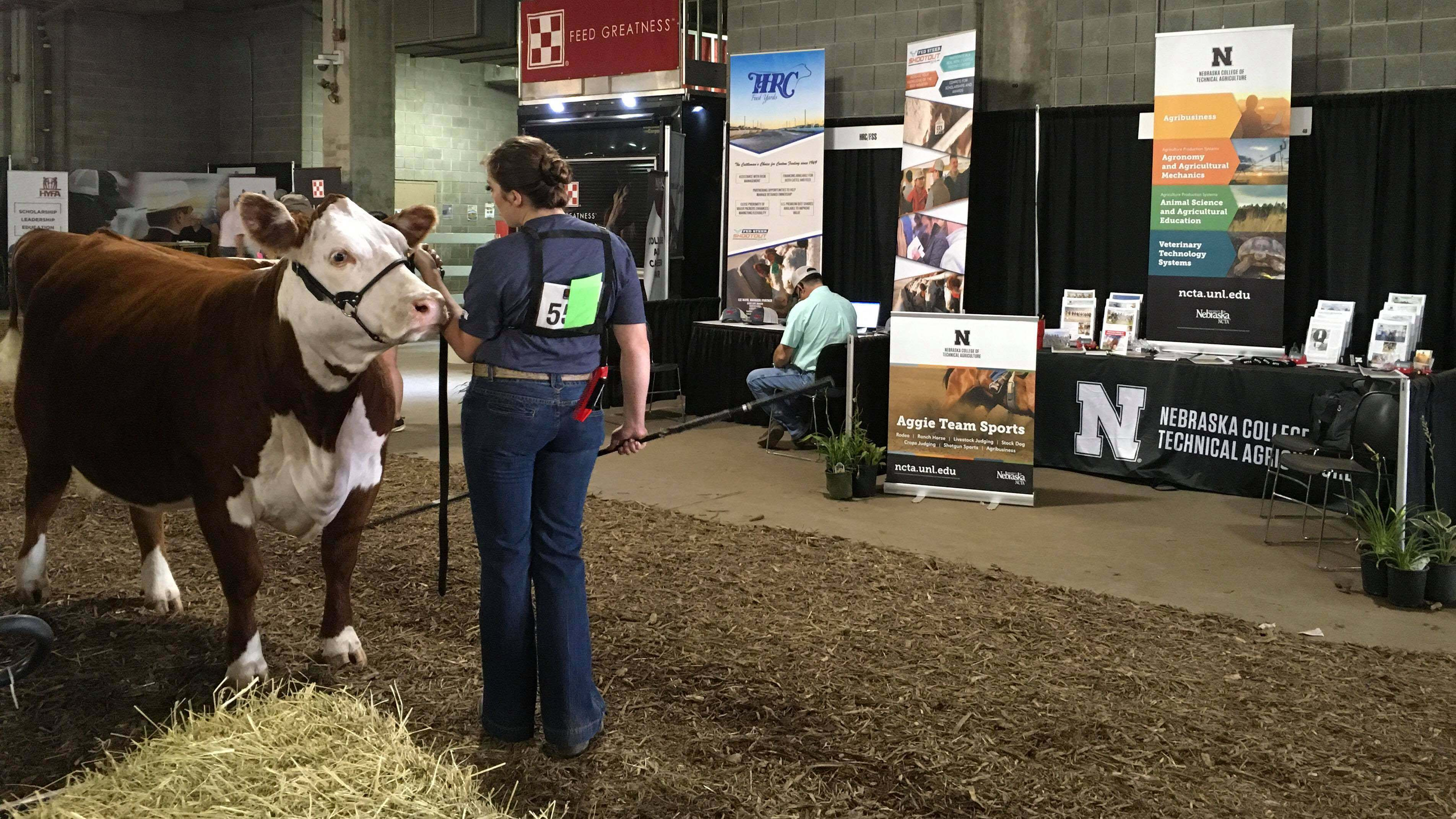 The Nebraska College of Technical Agriculture recruiting outreach in July includes the National Junior Hereford Spectacular at Kansas City, Missouri.  (Photo by Andela Taylor / NCTA)
