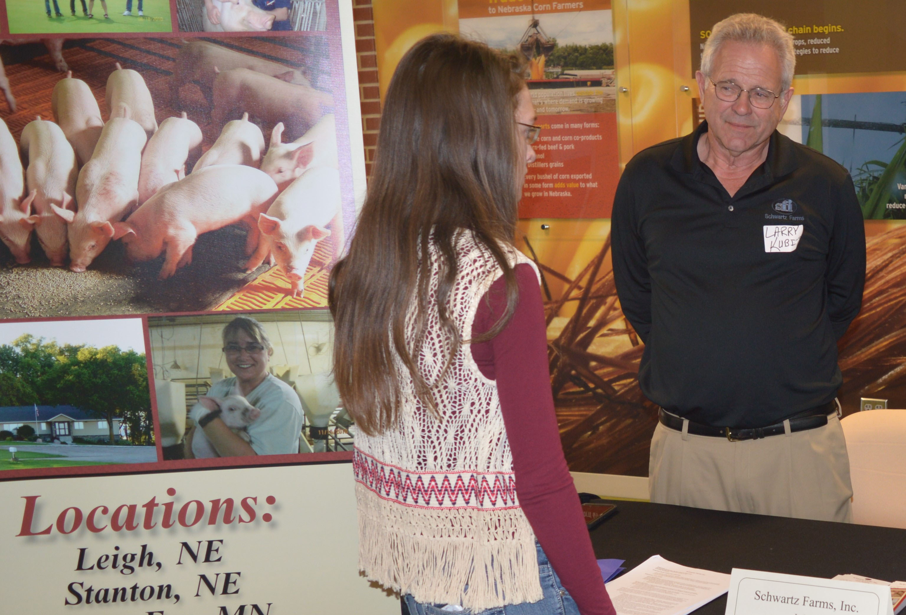 NCTA students can interact with employers at the NCTA Career Fair on Thursday in the Nebraska Agriculture Industry Education Center on campus. (NCTA News photo)