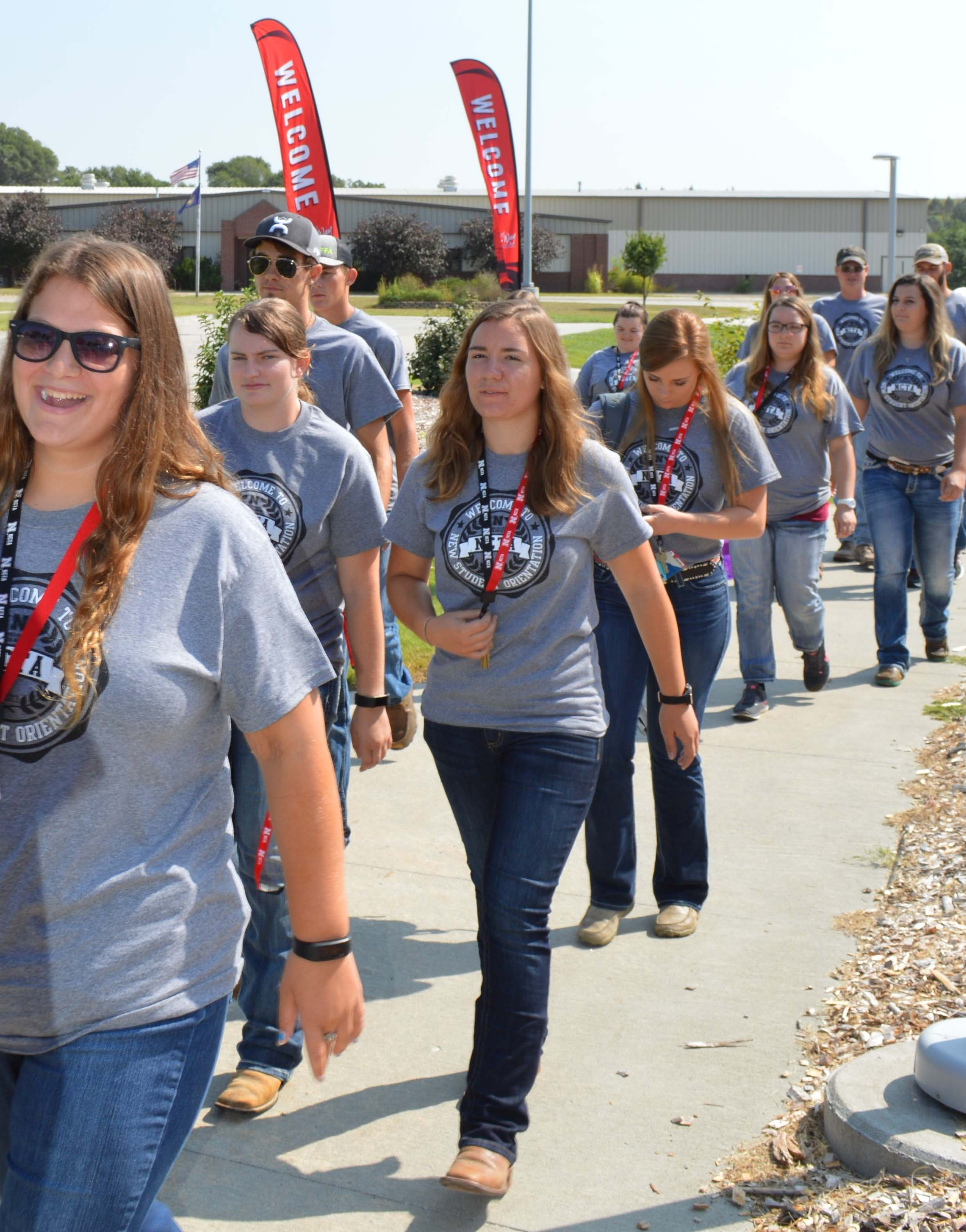 Students tour the NCTA campus. Discovery Day is Monday in Curtis. (NCTA file photo