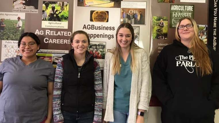 NCTA Student Senate Officers, left to right, Aileen Reynosa, KayLee Rasmussen, Sarah Campbell and Nicole Wright.  (NCTA photo)