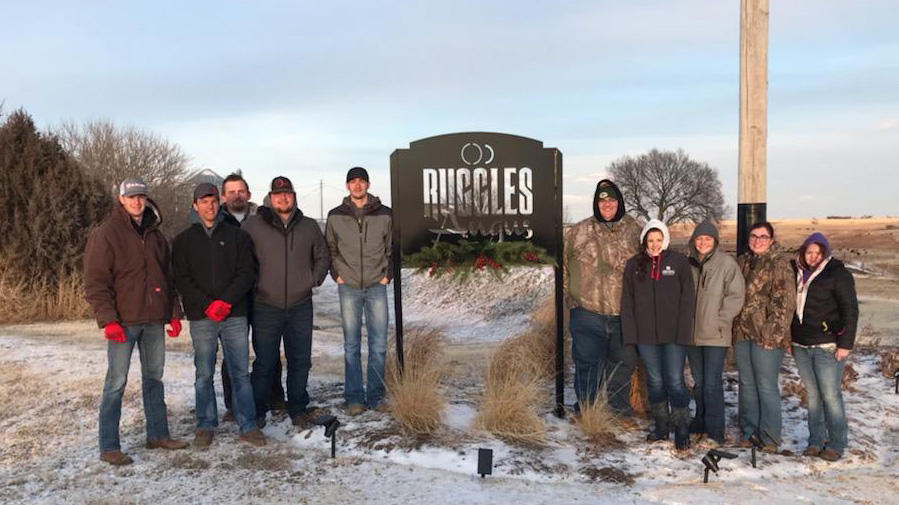 The NCTA Aggies evaluated bulls at Ruggles Angus near McCook in early January. (Smith/NCTA Photo)