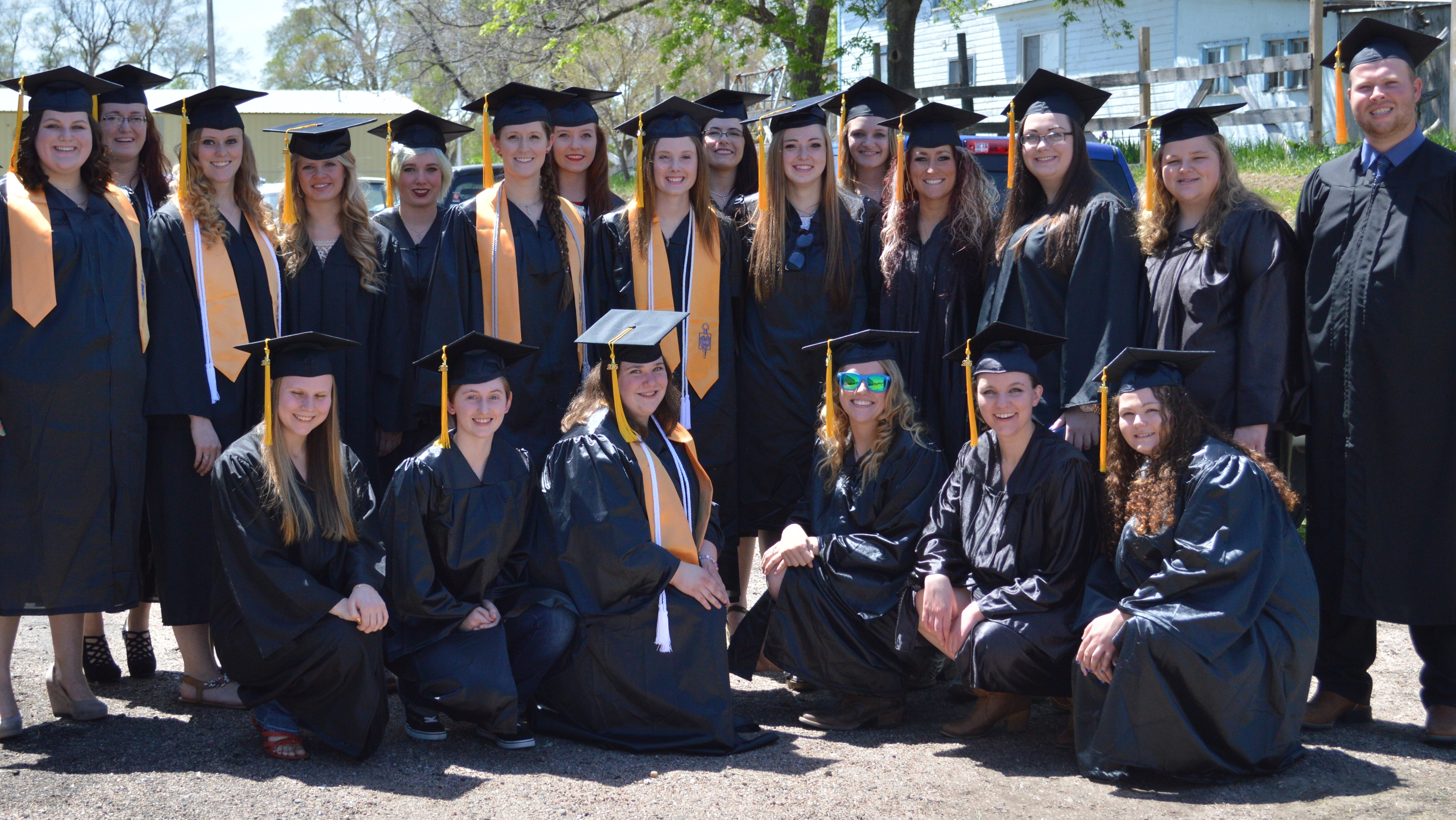 The Nebraska College of Technical Agriculture at Curtis announced the 2016 Dean's List and Honor Roll for the fall semester.  Students who graduated from NCTA's Veterinary Technology Division are shown here at the 2016 commencement. The graduates are now working as veterinary technicians, furthering their education in four-year degree programs, or employed in various capacities in agricultural production or animal health. (NCTA file photo)