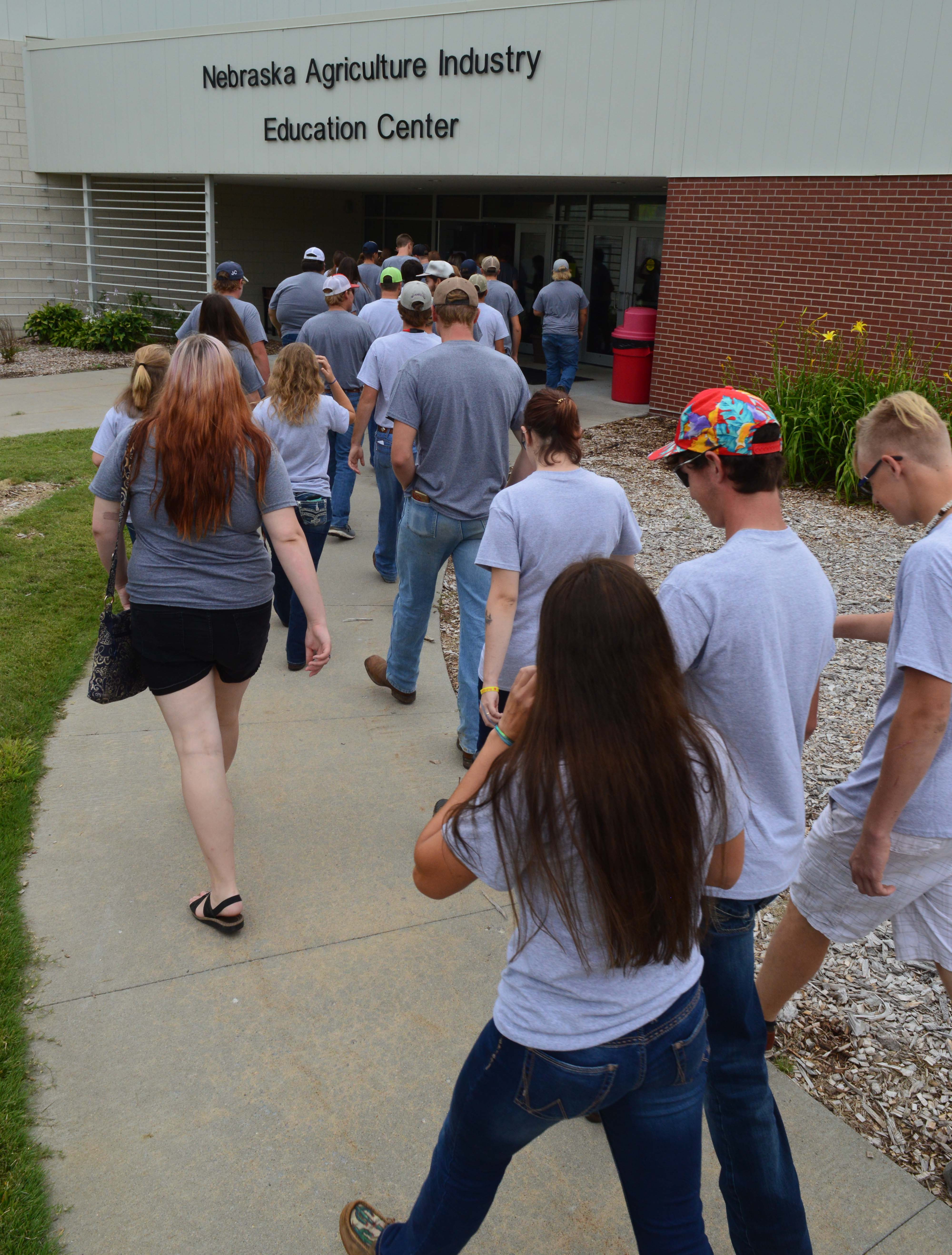 NCTA Aggies put their best foot forward on the way to New Student Orientation. Classes began Monday at the Curtis campus. (Crawford/NCTA)