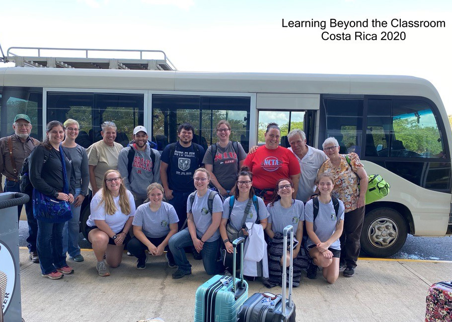 NCTA Safari Club members and guests board their bus for a study tour in Costa Rica. (Chrissy Starkey/NCTA Photo)