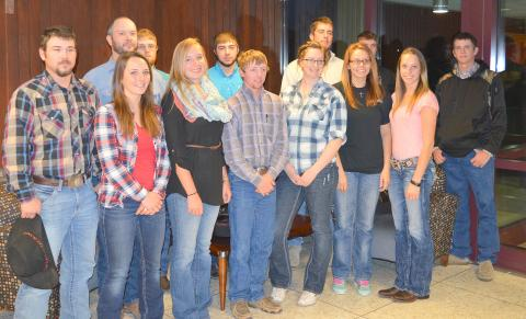 NCTA students representing range management and livestock industry management courses recently attended agriculture forums at UNL. The public is invited to join students for a grasslands program with grazing consultant Allen Williams on Nov. 14 at the NCTA Education Center. (NCTA photo)