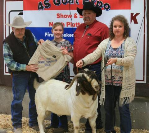 Champion Buck from the 2017 4S Goat Expo. Doug Smith, NCTA animal science professor, will judge the 2018 show on Sunday in North Platte. (Courtesy photo)