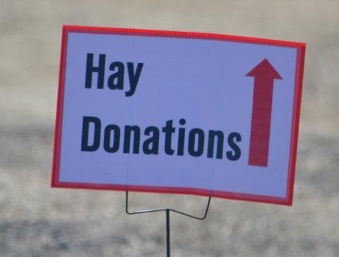 NCTA in Curtis is a collection point for hay bales to Nebraska disaster relief. (D. Pittman / Nebraska Extension)