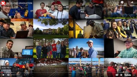 A collection of images from the Nebraska College of Technical Agriculture greeted viewers on May 7 to kick off the digital commencement for NCTA graduates.