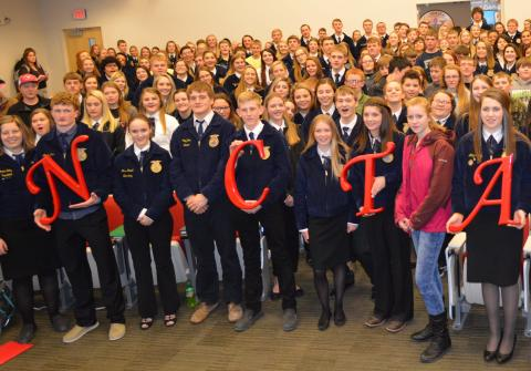 District 11 FFA members at the Nebraska College of Technical Agriculture. (Griffiths / NCTA Photo)