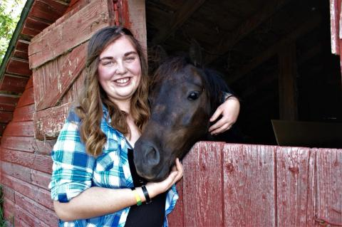 Melody MacDonald of Fullerton is a veterinary technician student at the Nebraska College of Technical Agriculture. She was named 2020-21 Aggie of the Year. (Photo courtesy of M. MacDonald))