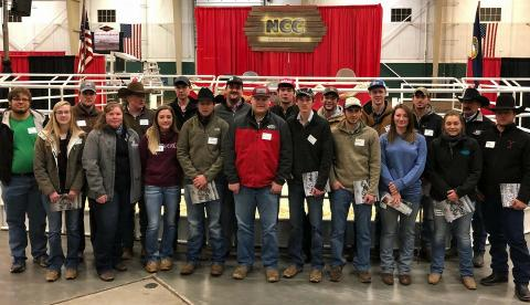 NCTA Beef Production students attended the Nebraska Cattlemen's Classic Career Day on Monday. (Tina Smith/NCTA photo)