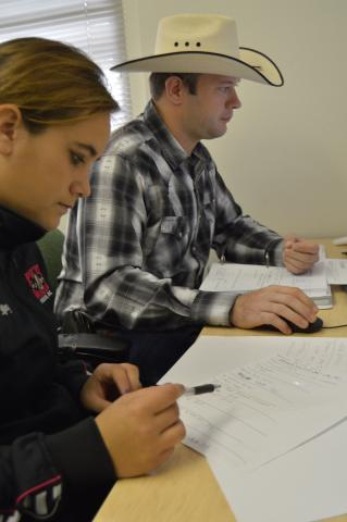 NCTA students study at the campus library