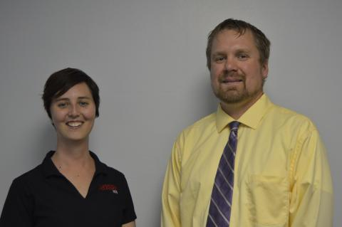 Tee Bush and Jeremy Sievers have each received promotions to associate professor at the Nebraska College of Technical Agriculture. (NCTA Photo)