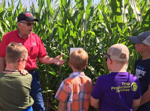 Crop development and water use are among topics for the 2019 Agronomy Youth Field Day to be August 7 at NCTA in Curtis.  (Nebraska Extension photo)