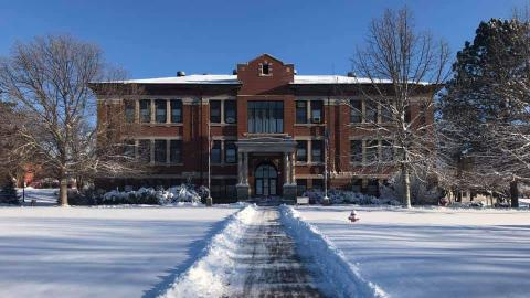 An idyllic winter scene of Ag Hall was captured Friday morning by Jeremy Sievers, associate professor of Agbusiness Management Systems, at the Nebraska College of Technical Agriculture. (Sievers/NCTA)