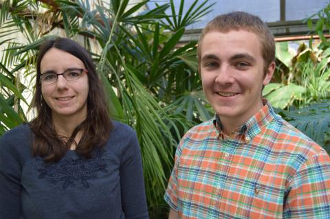Adrienne Strode of Lincoln, Neb. (left) and Shane Hoer of Blair, Neb. (right)