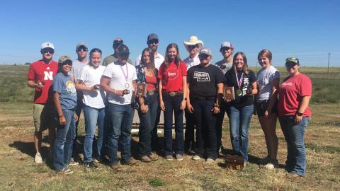The Nebraska College of Technical Agriculture Shotgun Sports Team hosted the Prairie Circuit Conference Classic at North Platte recently. More than 200 contestants competed. Conference Champion Female Emily Miller is third from right. (NCTA photo)
