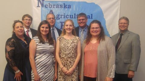 The Nebraska Agricultural Educators Association 2017 annual meeting at Kearney gathered alumni and future ag teachers from the Nebraska College of Technical Agriculture in Curtis. Fourteen NCTA alumni will be teaching in Nebraska ag and FFA programs this fall. (NCTA photo)