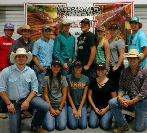 NCTA Collegiate Cattlemen and Women in Ag students support the beef industry as volunteers in serving at the Nebraska Cattlemen Beef Pit. This year, they will serve the afternoon and evening of Saturday, August 31st. (NCTA photo)