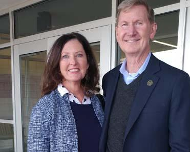 Lynda and Ted Carter visited the Nebraska College of Technical Agriculture on November 3 for a public forum. (Crawford/NCTA News)