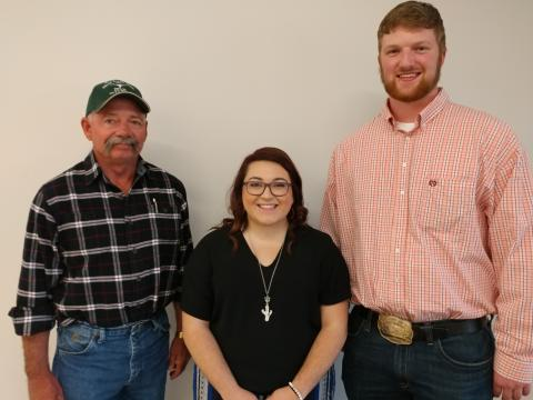 Randy Castle of Olathe, Colorado, presented the Chandie Castle Memorial Scholarships on May 1 to Darcy Stewart and Clade Anderson. (NCTA News Photo)