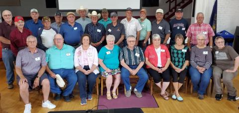 The Class of 1971 from the University of Nebraska School of Technical Agriculture gathered for an all-school reunion at Aggie Alumni Day on June 26. (NCTA Photo)