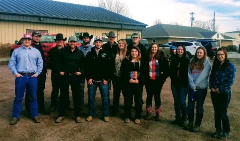 Animal science students from the Nebraska College of Technical Agriculture engage with employers about their careers such as on this feedlot tour in 2019. (NCTA file photo)