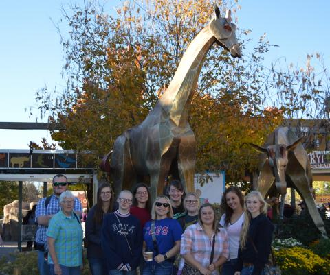 The Denver Zoo was the first tour stop for Vet Tech students from the Nebraska College of Technical Agriculture's Safari Club.