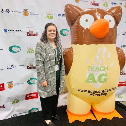 Haley Rogers is an NCTA Aggie graduate, agriculture teacher and FFA advisor at Lexington, Nebraska. (Courtesy photo)