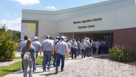 Aggie students gathered Sunday afternoon for their New Student Orientation at the Nebraska College of Technical Agriculture. Classes started August 23. (A. Taylor photo / NCTA)