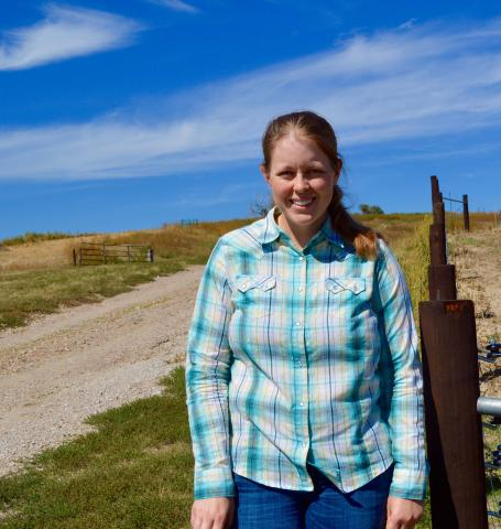Research technologist for range management, Jessica Milby, enjoys working outdoors but also teaching students about range management at the Nebraska College of Technical Agriculture. (Sophie Nutter photo)