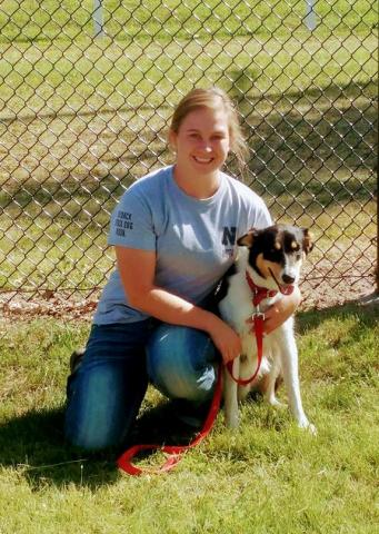 Past president of the NCTA Stock Dog Team Jolene Chmelik of Idaho and her dog, Gillie during 2017. The club hosts a public trial at campus on April 7th-8th. (Courtesy photo)