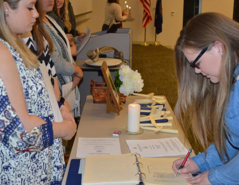 Academic achievement at NCTA is recognized by membership into the Alpha Iota Tau chapter of Phi Theta Kappa academic honorary. Initiation will be May 1 at NCTA. (Crawford/ NCTA News Photo)