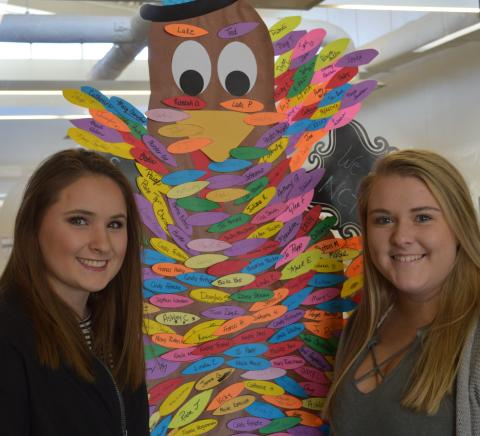 """Students at the NCTA campus """"Countdown to Kindness"""" project. (Griffiths/NCTA photo)"""
