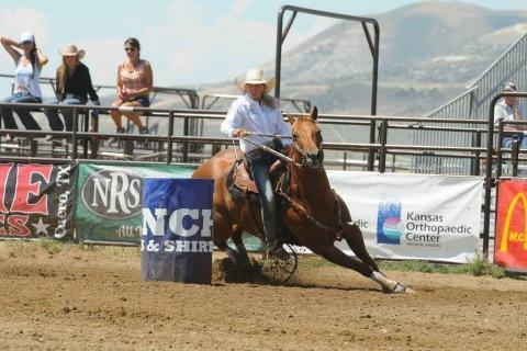 NCTA's Lexus Kelsch in high school barrel racing action. (Courtesy photo)