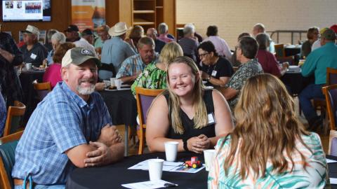 Mike and Allison Wilkens of Gibbon were among 102 attendees at the 2021 Aggie Alumni Day. Mike is an agribusiness grad from 1995, and Allison will graduate in 2022. (M. Crawford / NCTA News photo)