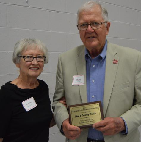 The Aggie Alumni presented Dorothy and Stan Matzke with an Honorary Lifetime Membership in 2016. (Crawford/NCTA photo)