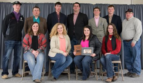 The NCTA Livestock Judging Team competed at the 2017 Nebraska Cattleman's Classic in Kearney. (Photo by Legacy Livestock Imaging)