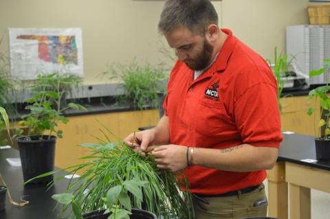 Nate Montanez of Grand Island competes on the NCTA crops judging and precision agriculture teams. (Craig Chandler / NCTA photo)