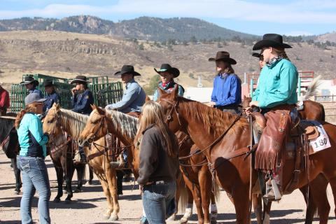 Eleven NCTA Ranch Horse Team students competed in Fort Collins at the CSU Silver Jubilee Stock Horse Show on Oct. 8-9. (NCTA Ranch Horse photo)