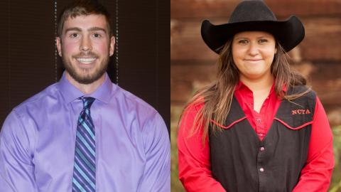 Ross Steward, Littleton, Colo., and Amelia Petska, Blue Hill, have been named Aggies of the Month for April by the Nebraska College of Technical Agriculture.