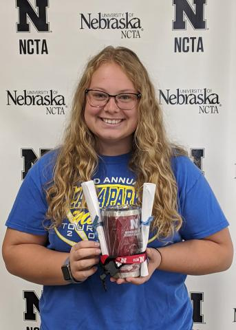 Sophie Nutter is an agribusiness management major at NCTA. (Stinman photo / NCTA News)